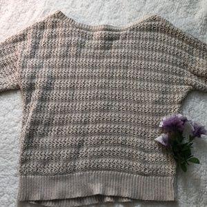 LOFT knitted sweater quarter sleeve